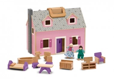 MD-13701 Melissa and Doug Fold and Go Dolls House 001