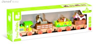 J08536  Janod Story Barnyard Baby Train 004