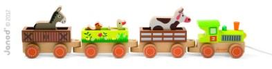 J08536  Janod Story Barnyard Baby Train 003