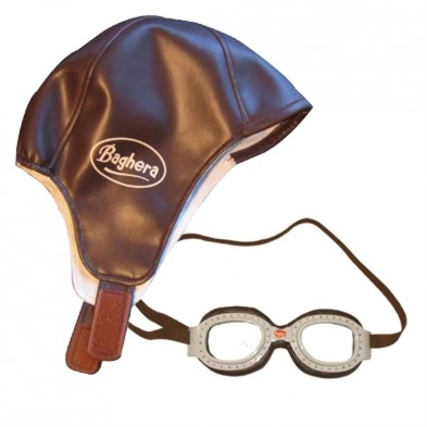 Baghera Child's Racing Hat and Goggles Set
