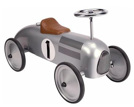 14136 Silver Classic Metal Rideon Car 002