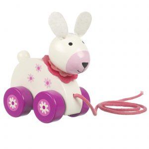 RY91M1432 Orange Tree Toys Pull Along Rabbit 001