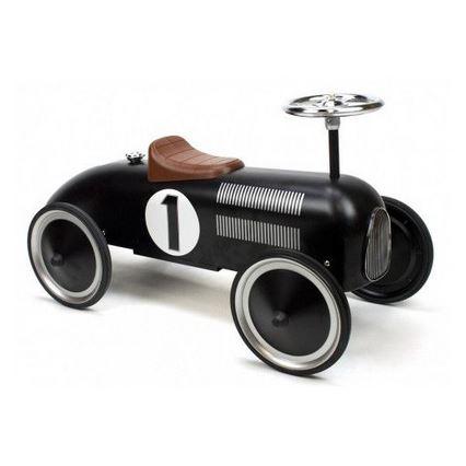 Black Classic Metal Rideon Car Goki 2