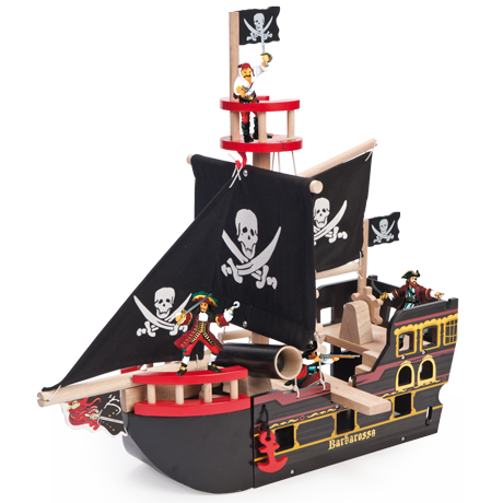 TV246 Le Toy Van Barbarossa Pirate Ship 001