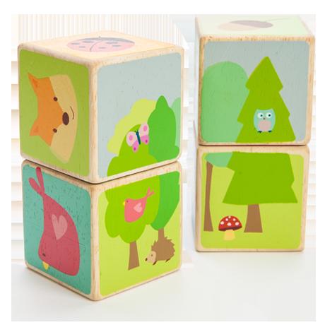 PL007 Little Leaf Wooden Blocks by Le Toy Van 001