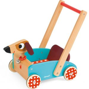 J05995 Janod Crazy Doggy Cart Baby Walker 001