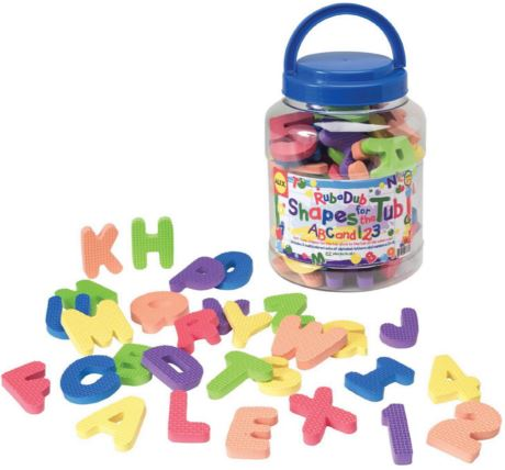 612 Alex Brands Shapes For The Tub ABC & 123 004