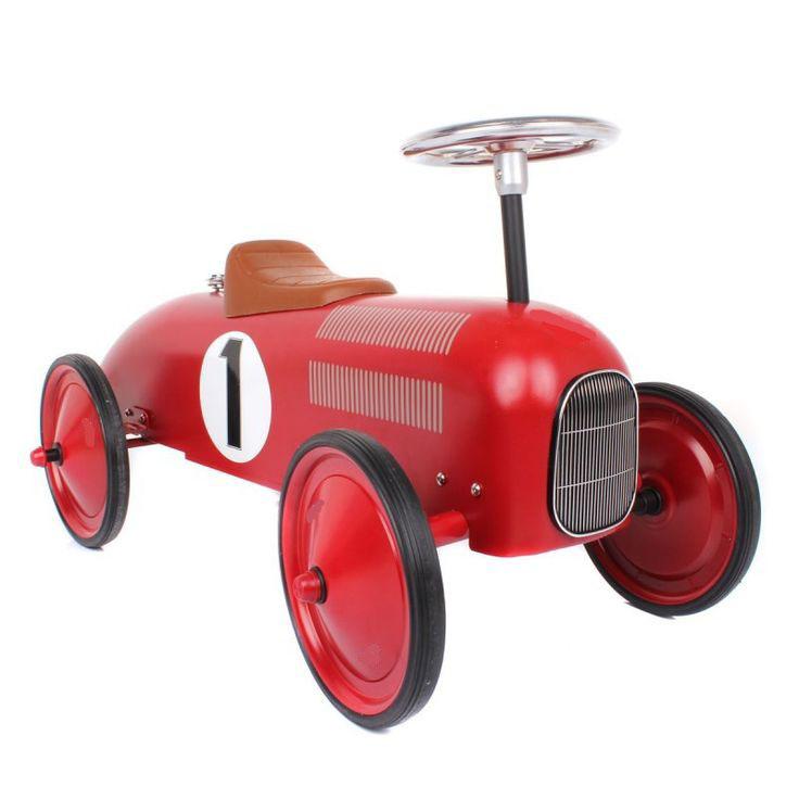 14135 Red Classic Metal Rideon Car 004