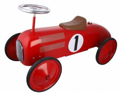 14135 Red Classic Metal Ride on Car 003