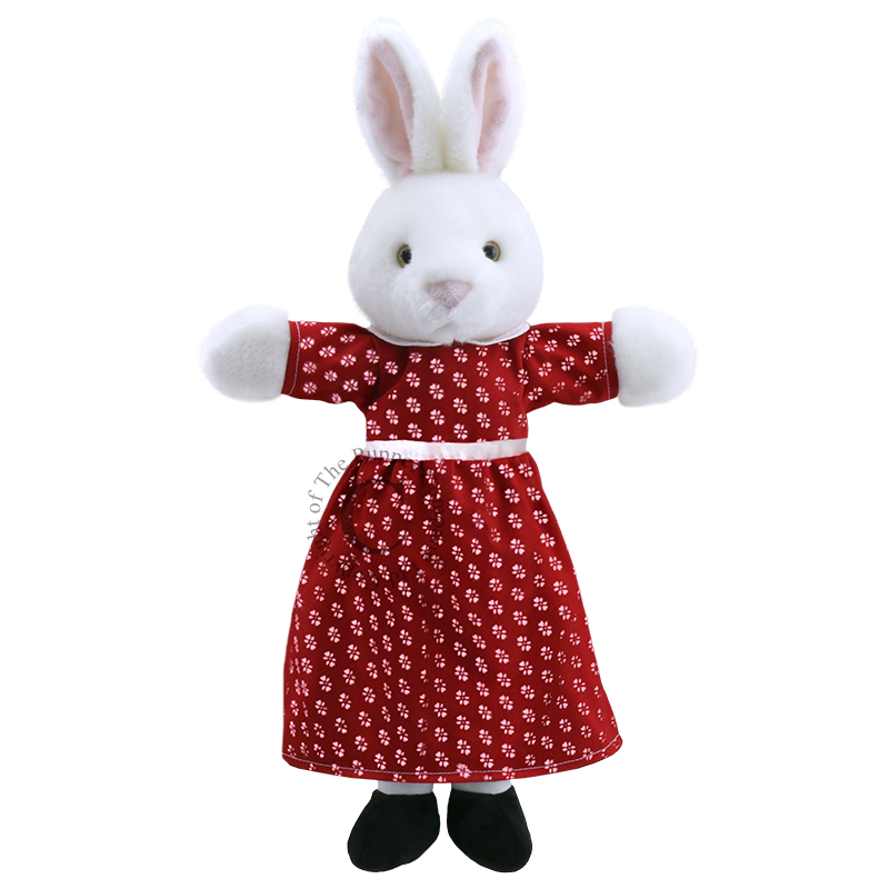 9907 Dressed Mrs Rabbit Hand Puppet 001