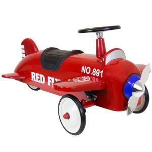 Red Retro Ride on Plane