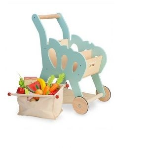 TV316 Le Toy Van Shopping Trolley (with detachable fabric bag)