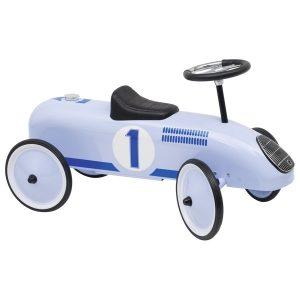 Blue Classic Metal Ride on Car
