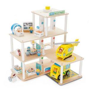 Tidlo General wooden toy hospital