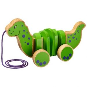 lanka kade dinosaur pull along wooden toy